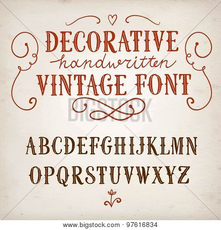 Vintage Decorative Vector Font