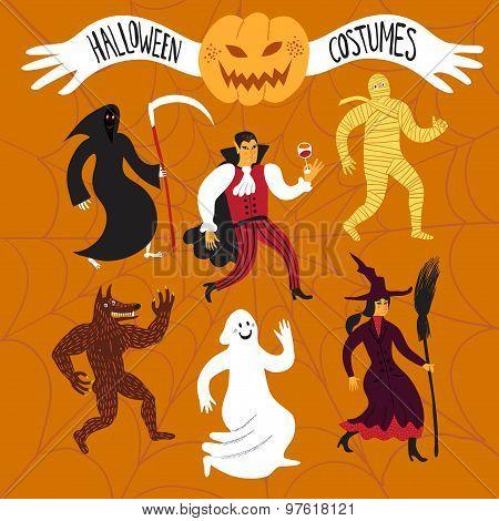 Cartoon Halloween Costumes.