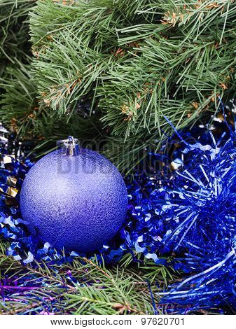 Violet Christmas Bauble, Tinsel, Xmas Tree 4