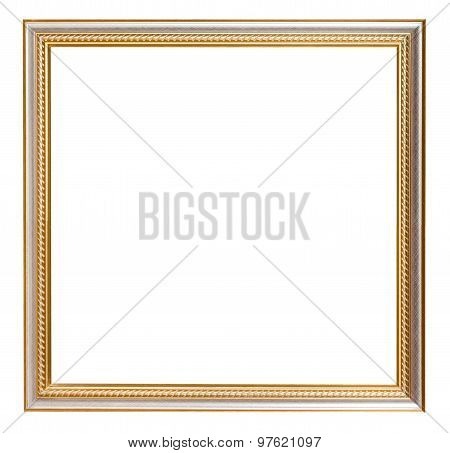 Square Golden Carved Wooden Picture Frame