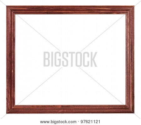 Red Brown Painted Narrow Wooden Picture Frame