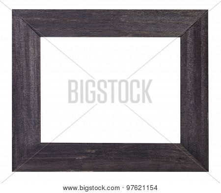 Black Painted Flat Wooden Picture Frame