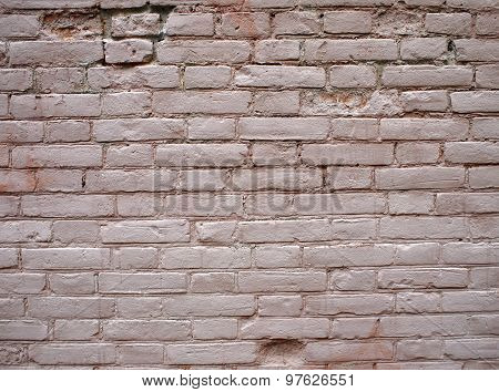 Detail Of A Wall Of The Old Beige Clay Bricks