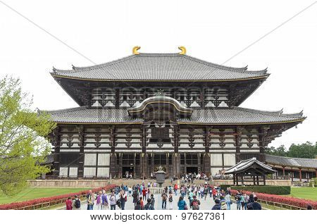 Todaiji Templa In Nara Japan