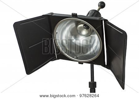 Photo Studio Lighting Equipment, Isolated On White, With Clipping Path