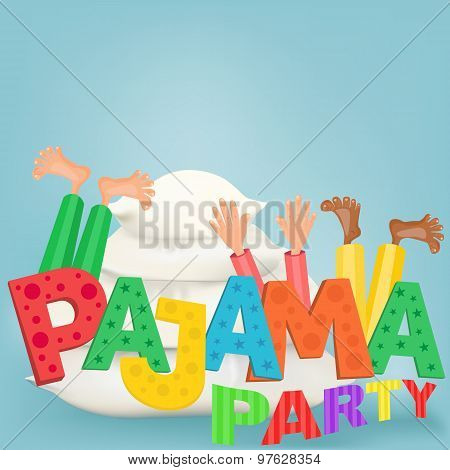 Illustration Of Boys With Pillows Having Pajama Slumber Party