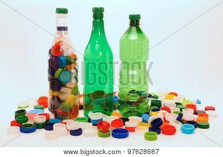 Plastic Bottles And Cups For Recycling