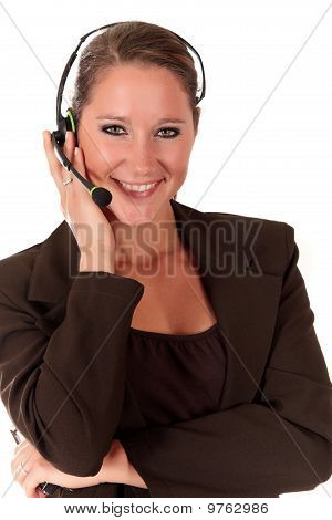 Help Desk Woman Communicating