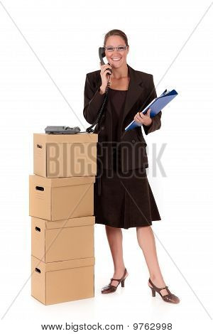 Secretary Postal  Package Telephone