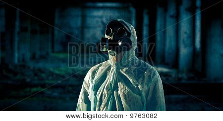 Man Portrait In Respirator