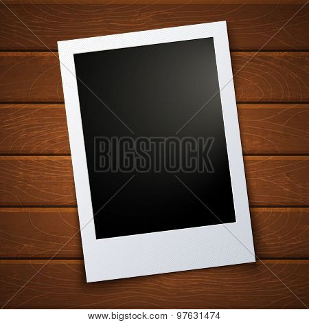Photo On Wooden Background