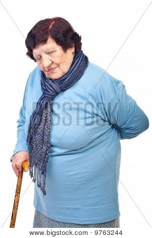 Elderly Woman With Back Pain