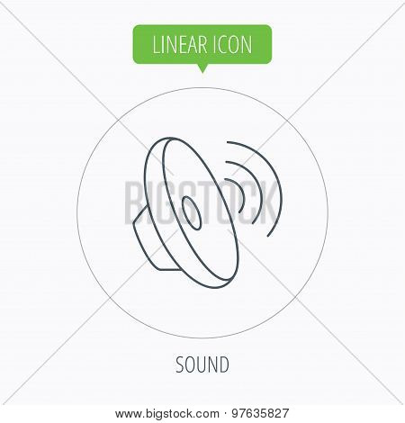 Sound waves icon. Audio speaker sign.