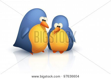 two cute birds