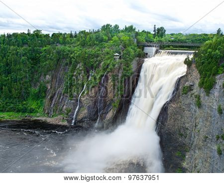 Waterfalls in Canada. Waterfalls in Quebec. The Montmorency Falls