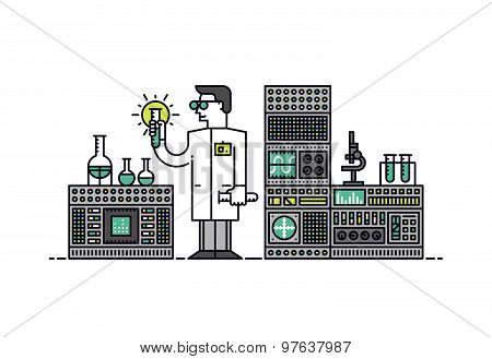 Solution Research Style Illustration