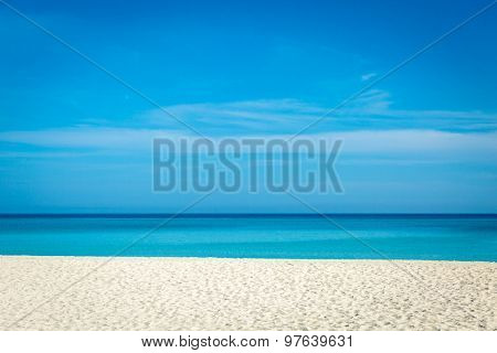 Beautiful summer day on the beach