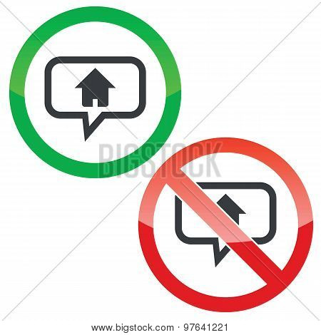Home message permission signs