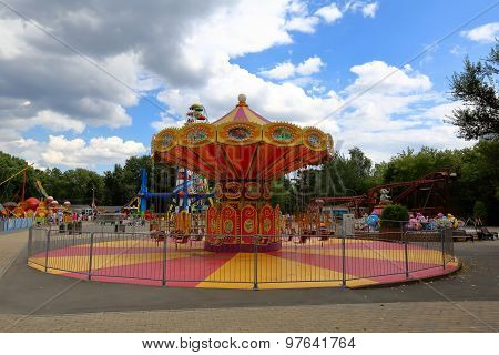 Carousel at amusement park