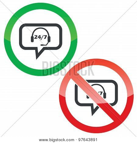 Support message permission signs