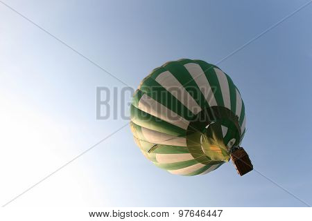 White Green Balloon In The Sky