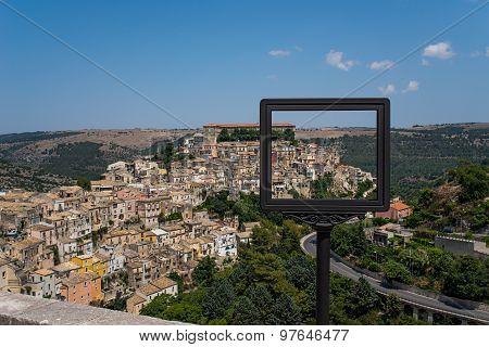 Ragusa Ibla Cityscape. Sicily, Italy.