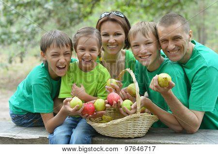 Happy Family having picnic in park