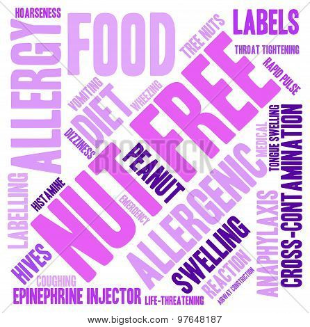 Nut Free Word Cloud