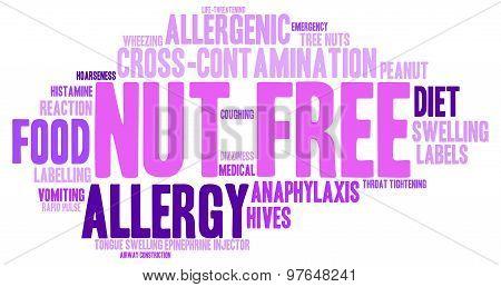 Nut Free Word Cloud