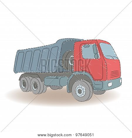 Colored tipper, vector illustration
