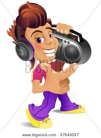 Boy With BoomBox