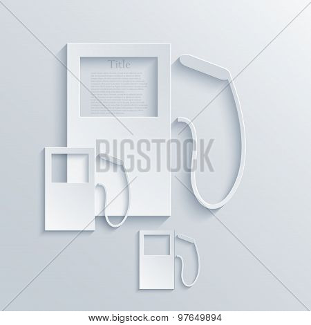Vector modern filling station background