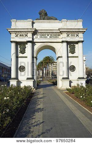 Arco Britanico in Valparaiso