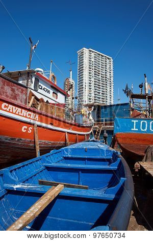 Fishing Boats on the Dockside