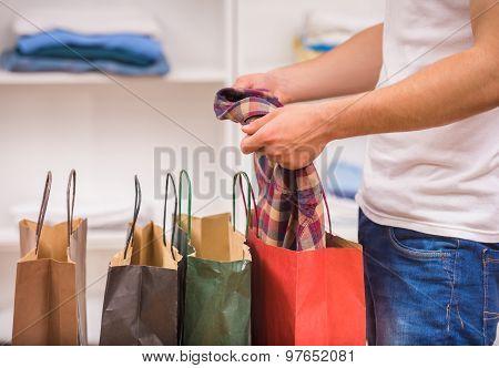 Man In Dressing Room