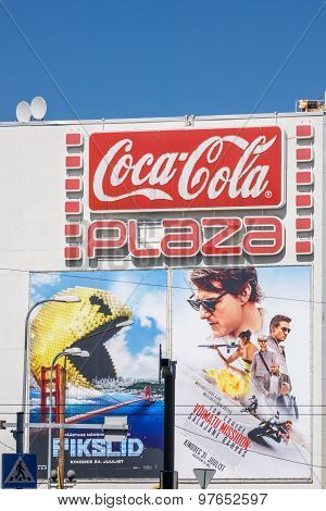 Pixels And Mission Impossible Movies Billboards 4