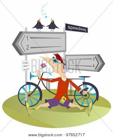Man and a bike