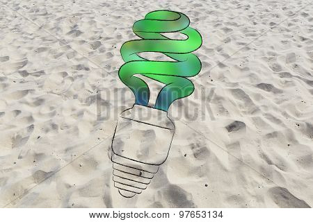 Energy Saving Bulb With Green Fill