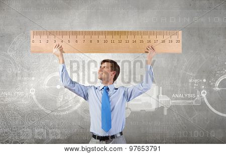 Man with scale