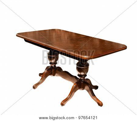 Big Beautiful Table On White