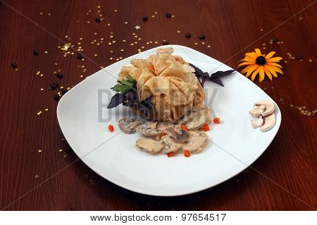 Pancake With Agarics