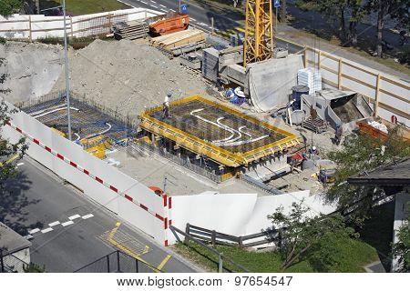 Switzerland - Sankt Moritz - construction
