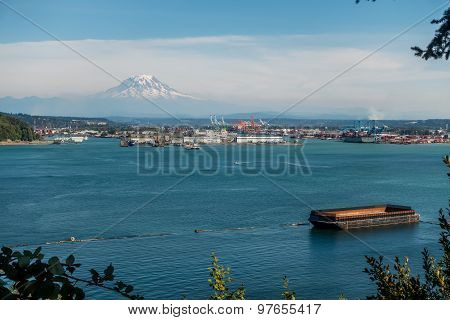 Port And Mount Rainier 2