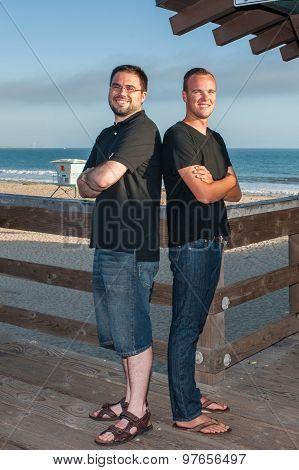 Cousins standing tall
