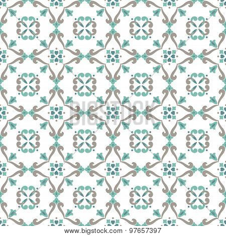 Vector Ceramic Tiles With Seamless Pattern