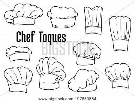 Chef caps and hats set