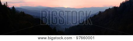 Smoky Mountain Sunrise Panorama