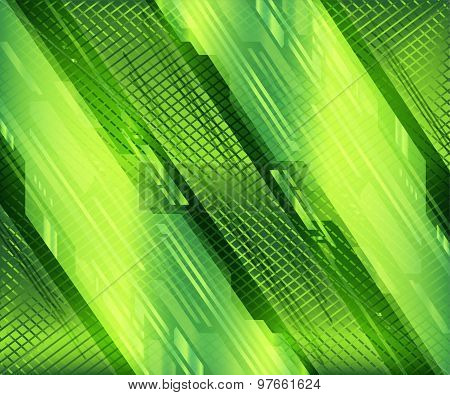 Abstract grid green background