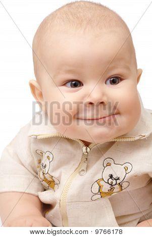 Portrait Shot Of A Curious Toddler