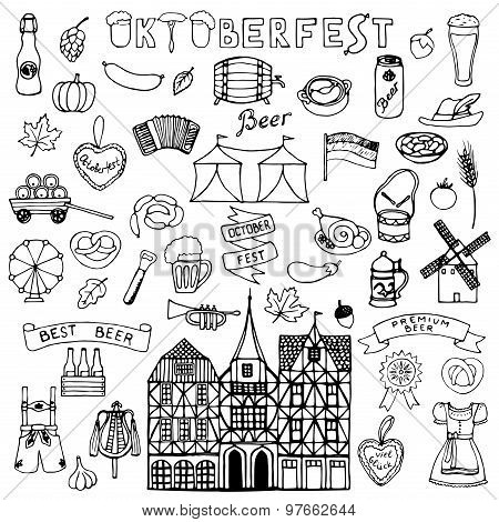 Octoberfest  hand drawn doodle